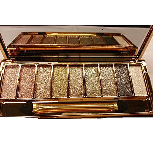 QzoneFire Make up Glitter Eyeshadow Palette 9 Colors Cosmetics Eye Shadow Pallete (# 6)