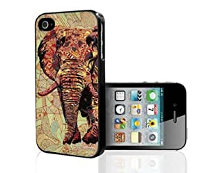 70's Print Elephant Hard Snap on Case (iphone 5c )