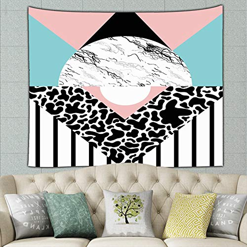 DWone Hat Retro Memphis Group Style 2 Modern Wall Hanging Bedding Tapestry Colourful ()