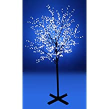 Beautiful 250cm 800L steady burning LED tree light with white plum blossoms and leaves for Christmas and other holiday decorations