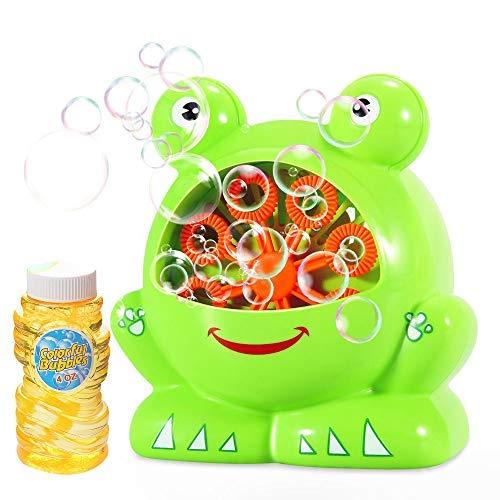 YAHO Bubble Machine for Kids, Automatic Bubble Blower Durable Bubble Maker with 1 Bottles of Bubbles Solution Refill, 500 Colorful Bubbles per Min Use -