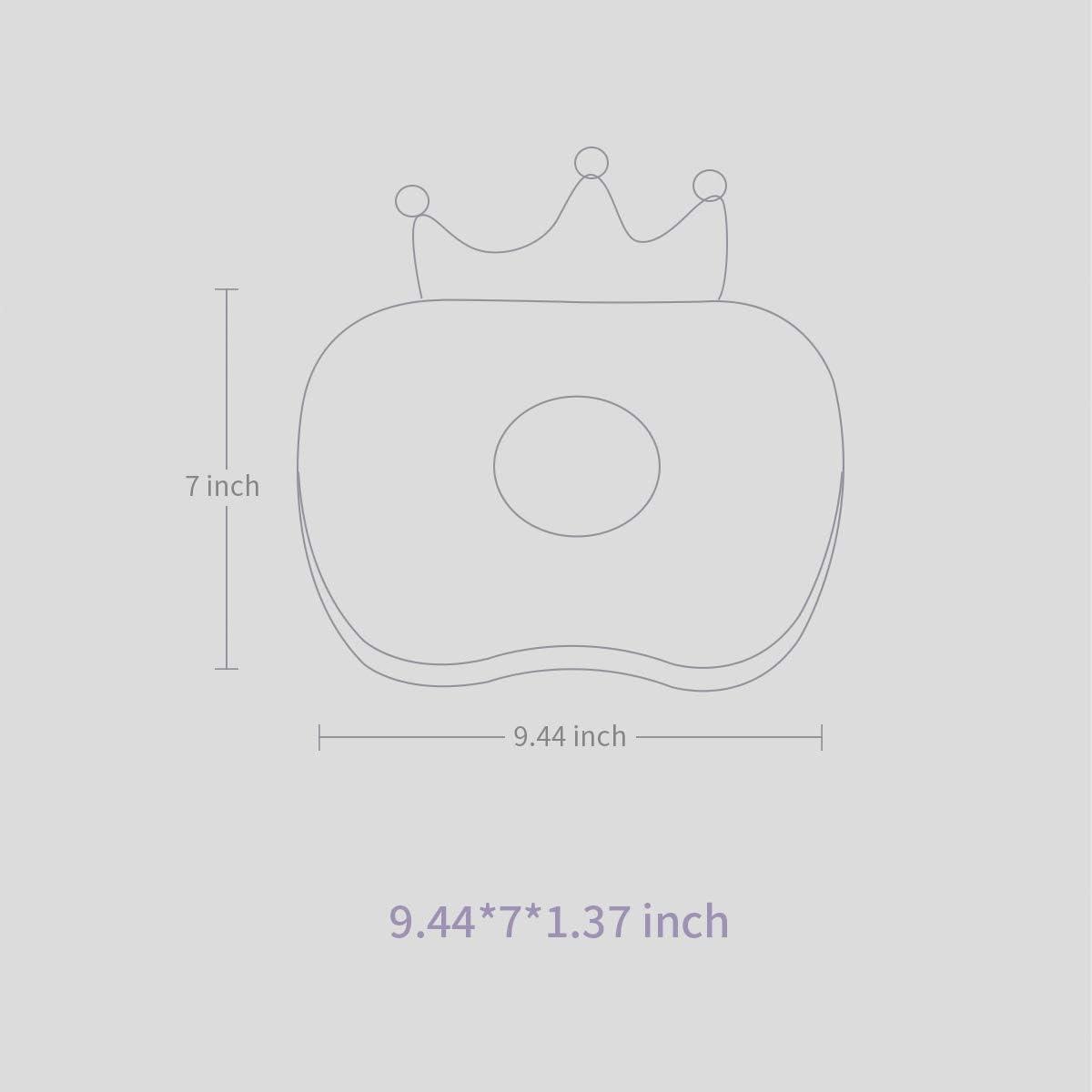 Transpirable /& Lavable SUNVENO Almohada Ortop/édica para Beb/é 0-3 A/ños Blanco Almohada para Beb/é Evitar Plagiocefalia Almohada Beb/é Coj/ín Reci/én Nacido Forma de Corona