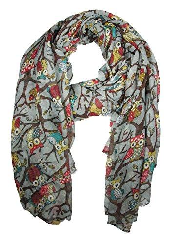 Raze London - Foulard Multicolore Imprimé Hibou - Multicolore, Taille unique