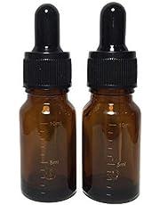 erioctry 6pcs 10ml 9,6gram vide rechargeables Ambre dégradé en verre d'huile essentielle Bouteille Fiole à nourriture avec verre Pipette Dropper