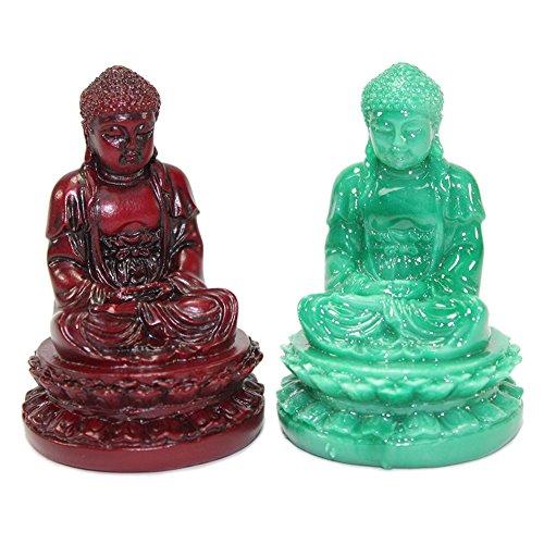 KT Set of 2 Feng Shui 1 Red + 1 Green 2