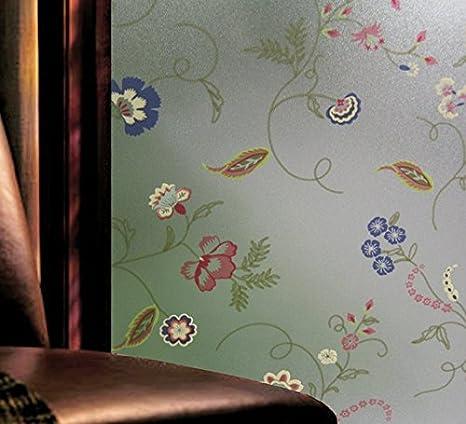 Hibiscus Escarchado de privacidad baño cristal pantalla Balcón ...