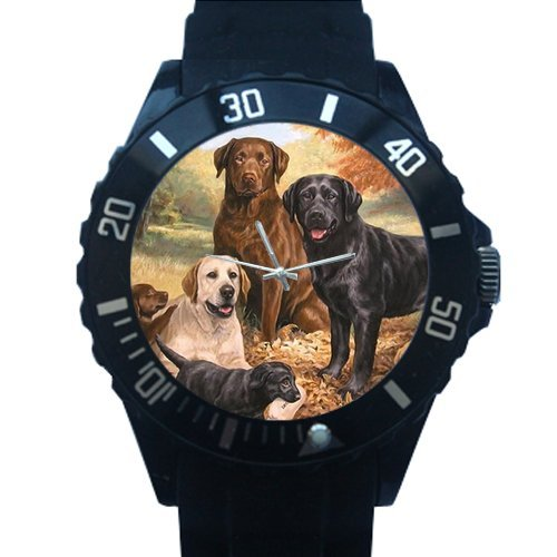 Men's and Boy's Christmas Gift Watch Cute Yorkshire Terrier with Glasses Black Plastic High Quality Watch 100% Plastic Quartz Watch