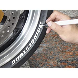 Keiti Motorcycle Car Tyre Pen Marker TP300W White