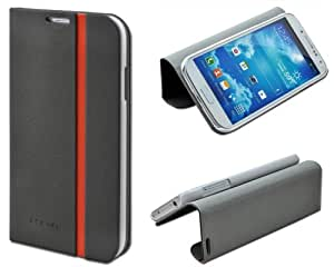 Shenit Samsung Galaxy S4 i9500 Slim Smart Leather Case Flip Cover Folio with Stand - Grey