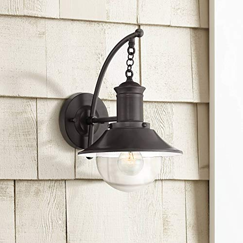 Edna Nautical Outdoor Wall Sconce Fixture English Bronze 14