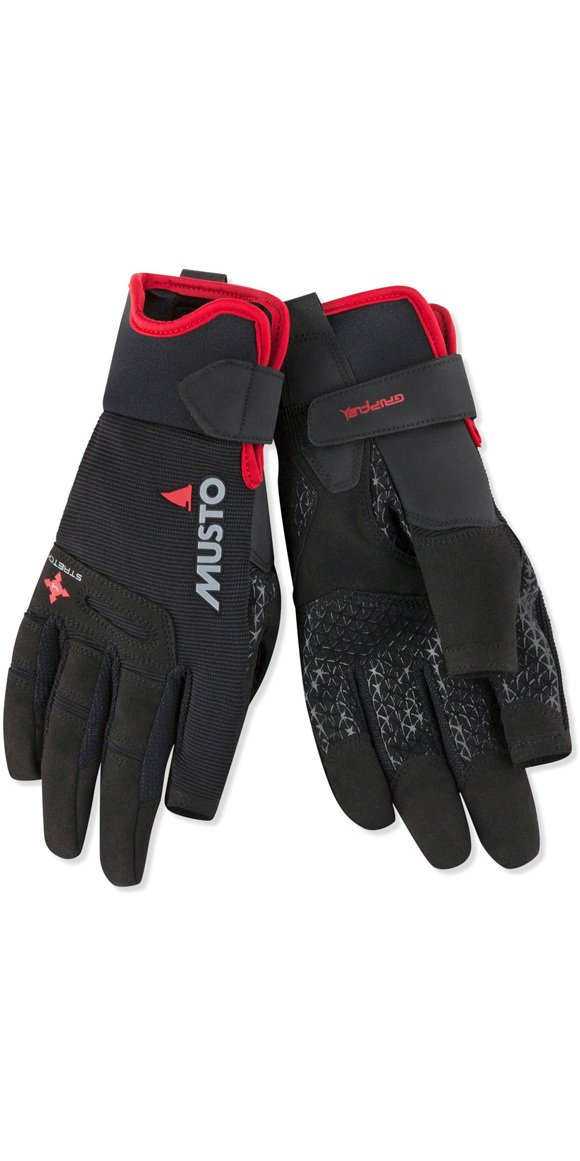 Musto Performance Long Finger Sailing Gloves - 2018 - Black M by Musto
