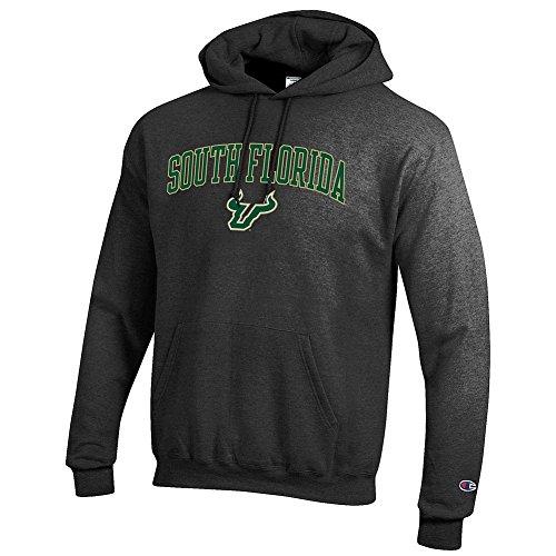 (Elite Fan Shop South Florida Bulls Hooded Sweatshirt Varsity Charcoal - XL)