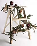 4 Foot Mixed Snowy Pine Holiday Garland with Burlap Bows, Berries, Pip Berries, Pomegranates, and Pine Cones – Great Decor for the Winter Season For Sale