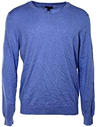 Men's Cotton and Cashmere Blend V-Neck Sweater