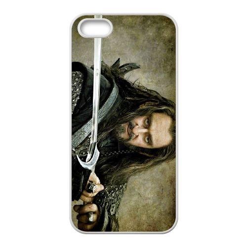 The Hobbit Richard Armitage As Thorin Oakenshield Sword 01 coque iPhone 4 4S cellulaire cas coque de téléphone cas blanche couverture de téléphone portable EOKXLLNCD20112