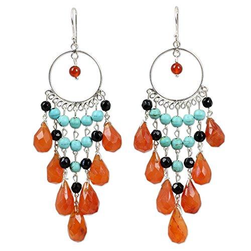 Sterling Silver Carnelian Earrings - 4