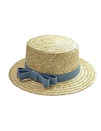 Panama Hat Women Girls Straw Bow-Knot Summer Sun Classic Hat
