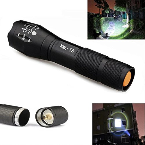 UPLOTER Flashlight-3500 Lumen 5 Modes CREE XM-L T6 LED Torch Powerful 18650 Flashlight Lamp - To 140mm Cm