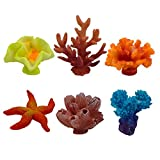 Artificial Coral, Multicolor Fake Coral for Decor Aquarium, 6 Counts by ZXSWEET