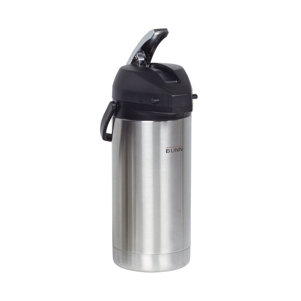 BUNN 36725.0000 3.8-Liter Lever-Action Airpot, Stainless Steel