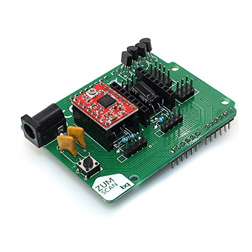 TOOGOO Open Source Zum Scan Expansion Controller Board with a4988 Stepper Motor Diver for Ciclop 3D Scanner