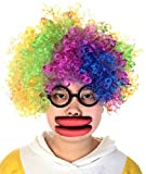 Party Wig, Funpa Masquerade Wig Wild Curl Up Funny Wig Costume Hair Wig with Glasses and Lips for April Fool Day