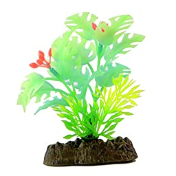 Saim Glow in the Dark Artificial Plant for Fish Tank, Decorative Aquarium Ornament, 8 Pcs