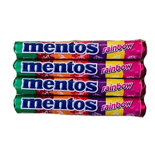 Mentos Rainbow Fruit Chews   Fruit Chew Mints Rainbow   Pack of 4