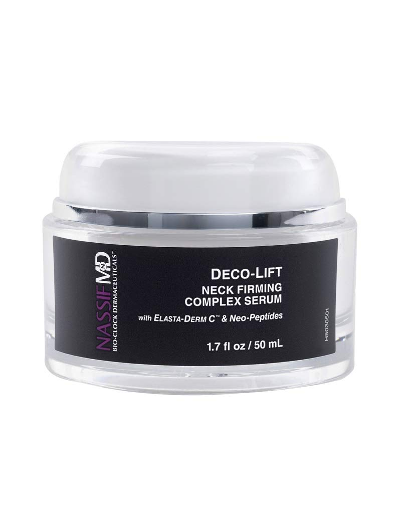 NassifMD Deco-Lift Neck Firming & Lifting Complex Serum with Powerful Peptides that smooth wrinkles for younger looking skin