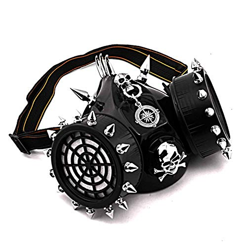 - New Gothic SteamPunk Spike Skull Gas Mask Respirator Mens Womens cosplay