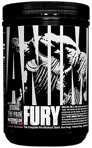 Universal Nutrition Animal Fury Pre-Workout Energy Supplement with Amino Acids, Blue Raspberry, 30 Count by Universal Nutrition