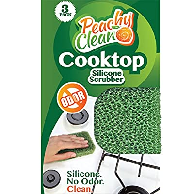 Antimicrobial Cooktop Cleaner Silicone Scrubber by Peachy Clean