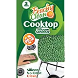 Antimicrobial Cooktop Cleaner Silicone Scrubber by Peachy Clean (Qty 3)