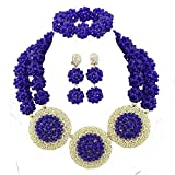 Product review for Africanbeads 2 Rows Crysatl Ball African Beads Jewelry Set,Nigerian Bridal Jewelry Set,African Wedding Jewelry Set