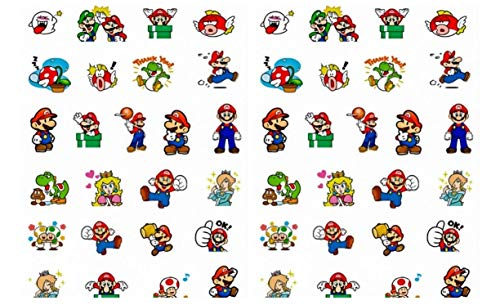 Super Mario & Characters Pixel Stickers Assorted Lot of 25 Pieces]()