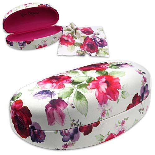 (MyEyeglassCase Large Hard Sunglasses Case | fits Large to Extra Large Sunglasses (AS413 Cranberry Rose))