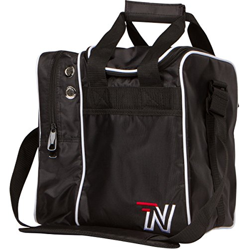 Nashe Bowling Bag – Mens & Womens Single Ball Tote With Protective Plastic Ball Cup, Bowling Shoe Storage Plus Room For Bowling Accessories & Equipment This Large Black Bowling Ball (Walmart Bowling Balls)