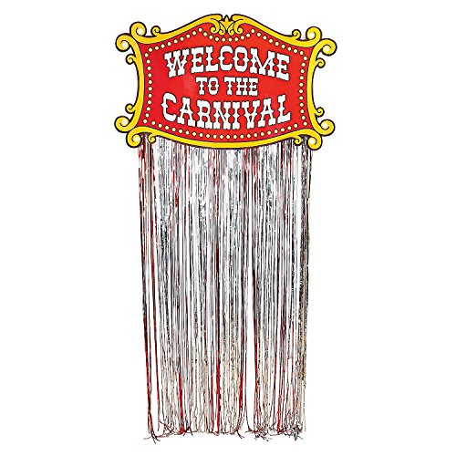Fun Express - Carnival Door Curtain - Party Decor - Door Decor - Door Borders & Curtains - 1 Piece -