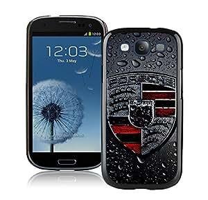 Porsche logo 2 Black Samsung Galaxy S3 Cellphone Case High Quality and DIY Design
