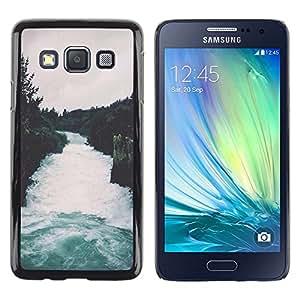 Be Good Phone Accessory // Dura Cáscara cubierta Protectora Caso Carcasa Funda de Protección para Samsung Galaxy A3 SM-A300 // Nature Forest Grey Sky Trees