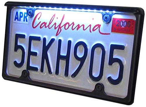 Car License Plate Frame Black with White ()