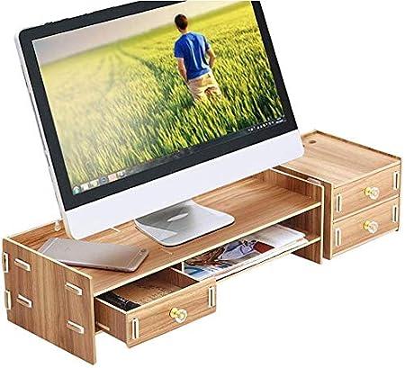 XD Panda Soporte ergonómico para Monitor con cajón de ...