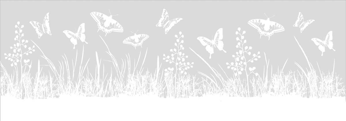 EuroGraphics Deco Store WS-AHA1090 Window Sticker/Privacy Shield/Glass Decoration with Meadow Motif 35 x 98 cm