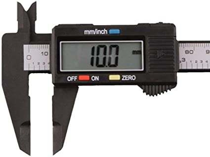 US Digital Caliper Electronic Gauge Carbon Fiber Vernier Micrometer Ruler 6inch