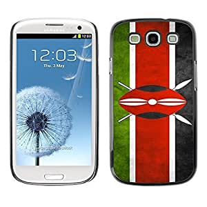 Shell-Star ( National Flag Series-Kenya ) Snap On Hard Protective Case For Samsung Galaxy S3 III / i9300 i717 hjbrhga1544