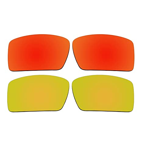 917bfcae10 Image Unavailable. Image not available for. Color  ACOMPATIBLE Replacement  Polarized Fire Red and Gold Lenses for Oakley Eyepatch 2 Sunglasses