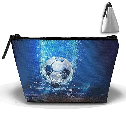 Makeup Bag Trapezoidal Storage Bag Football Portable Cosmetic Bag Ladies Mobile Travel -