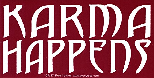 Karma Happens - Bumper Sticker / Decal (7.5