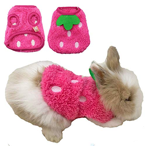 ANIAC Pet Costume Cute Rabbit Clothes Soft Bunny Vest Cozy T-Shirt for Kitten Ferret Puppy and Small Animals