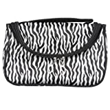 Zebra Travel Makeup Cosmetic Carry Hand Case Bag + Mirror, Bags Central